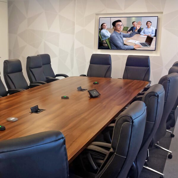 Boardroom video vidyo conferencing