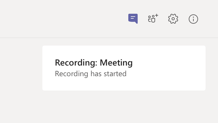 Meeting Recording